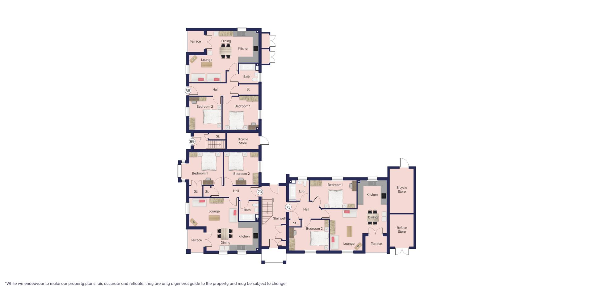 Kingfisher Grange, Bursledon_Floor plate_Plots 68,